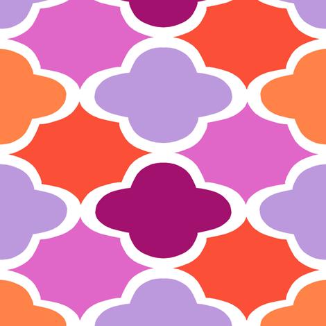 Geo - Pinks fabric by elephantandrose on Spoonflower - custom fabric