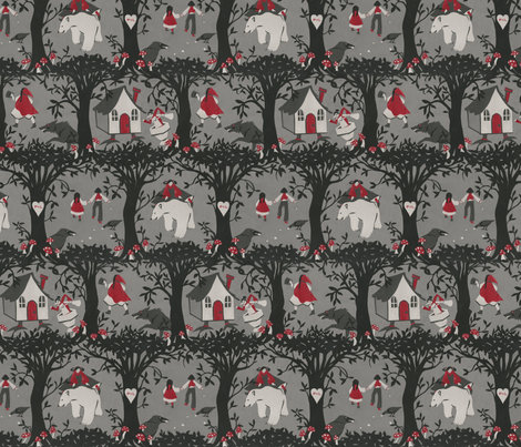 P+L The Black Forest fabric by ceanirminger on Spoonflower - custom fabric