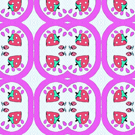Plate of strawberries and melons fabric by dk_designs on Spoonflower - custom fabric