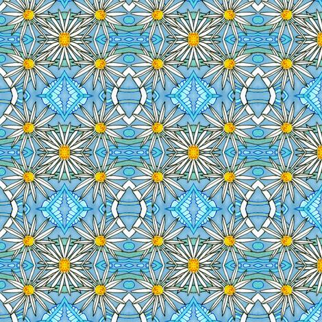 Lazy Daisy fabric by edsel2084 on Spoonflower - custom fabric
