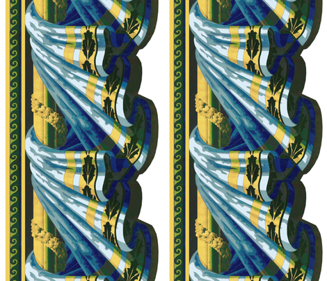 Buttered_Blue_Swag-ed fabric by kelly_a on Spoonflower - custom fabric