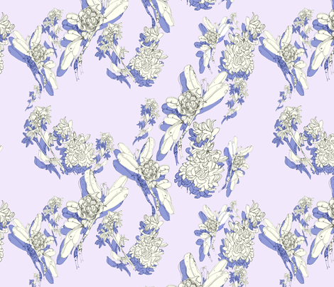 flowersshadow fabric by ariellelouise on Spoonflower - custom fabric