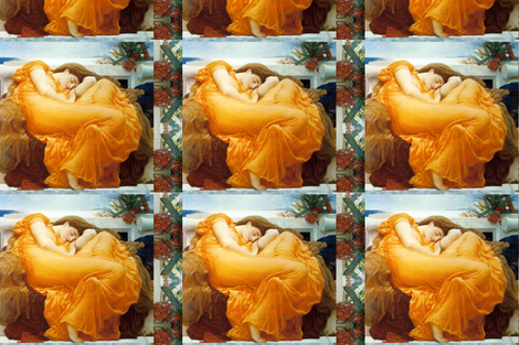 Flaming June, 1895 fabric by craftyscientists on Spoonflower - custom fabric