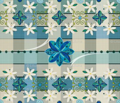 Aidas Vintage Blue Linen Tablecloth