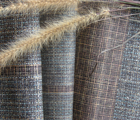 Natural Weaves - stripe in browns, blues