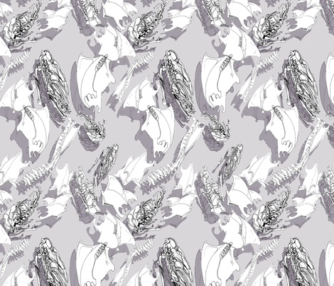 boneshadow fabric by ariellelouise on Spoonflower - custom fabric