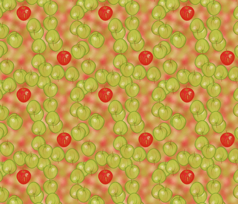 Apples away by Su_G fabric by su_g on Spoonflower - custom fabric