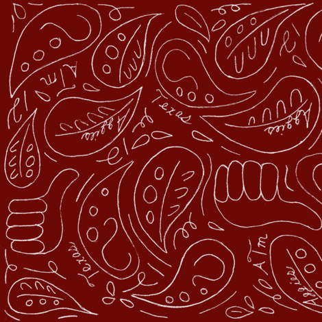 maroon out fabric by auntcindys on Spoonflower - custom fabric
