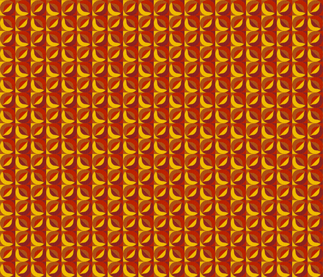 shade and shadow fluttering autumn leaves fabric by glimmericks on Spoonflower - custom fabric