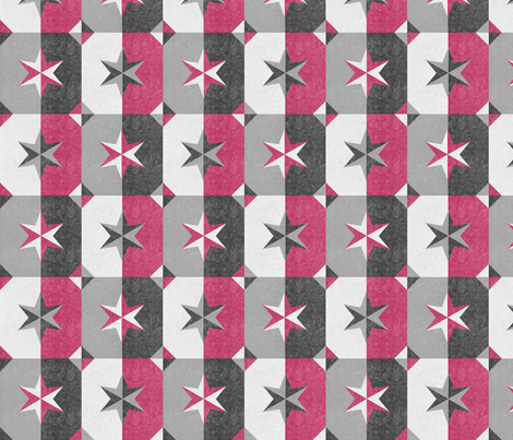 shade and shadow weathered stars rose fabric by glimmericks on Spoonflower - custom fabric