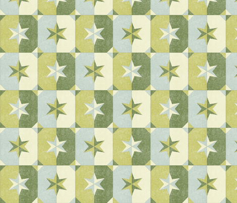 shade and shadow weathered stars dill pickle fabric by glimmericks on Spoonflower - custom fabric