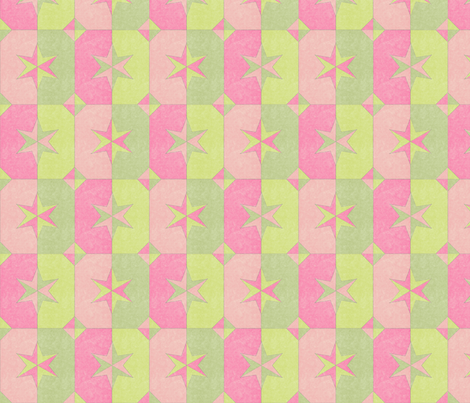 shade and shadow weathered stars princess rose fabric by glimmericks on Spoonflower - custom fabric