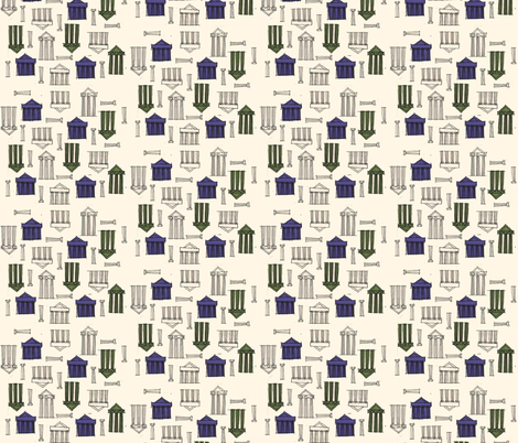 Ancient Greek Buildings fabric by htsvik on Spoonflower - custom fabric