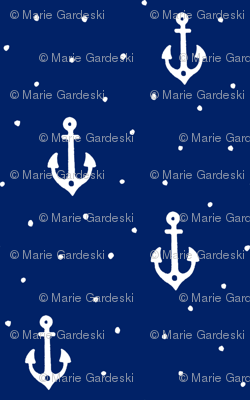 Cute Little Anchors | Navy Blue