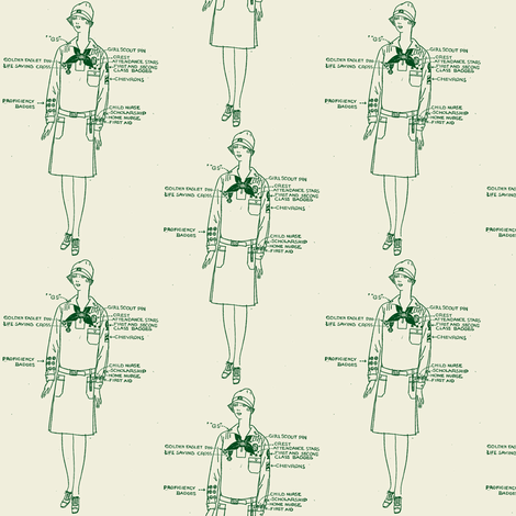 The Loyal, Courteous, Thrifty and Cheerful Girl of 1929 fabric by edsel2084 on Spoonflower - custom fabric