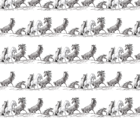 Mustang fabric by bhymer on Spoonflower - custom fabric