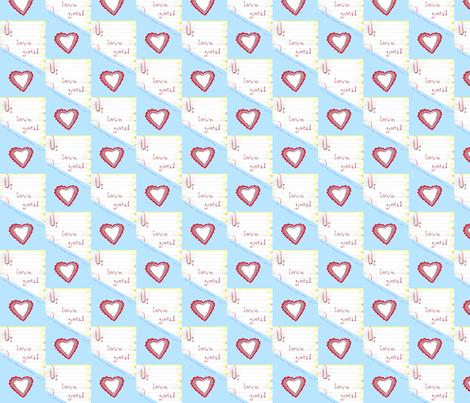 I Love You! fabric by robin_rice on Spoonflower - custom fabric