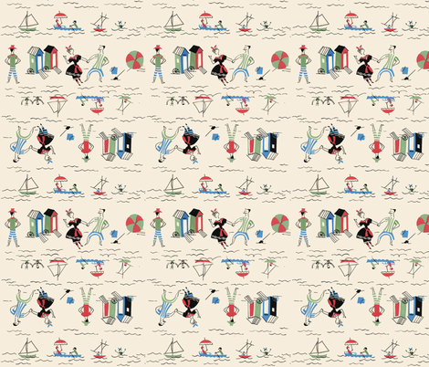 Swimmers By the Sea fabric by htsvik on Spoonflower - custom fabric