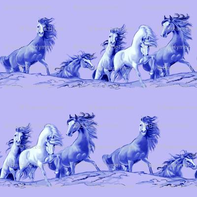 Mustangs on Purple