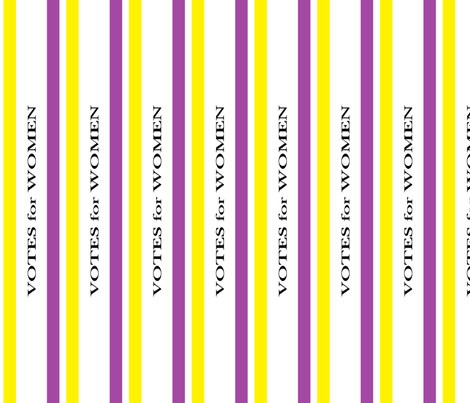 Suffragist Sash - Yellow and Violet fabric by fentonslee on Spoonflower - custom fabric