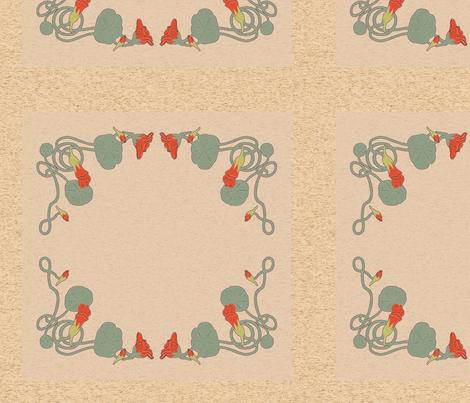 nasturtium pillow fabric by vinpauld on Spoonflower - custom fabric