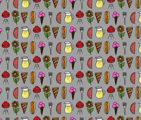 Picnic fabric by abbyg on Spoonflower - custom fabric