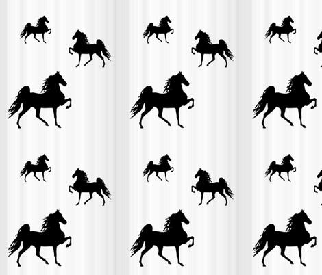 Horses-grey_stripe fabric by mammajamma on Spoonflower - custom fabric