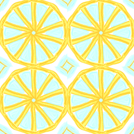 Grapefruit Cartwheels fabric by ravynscache on Spoonflower - custom fabric