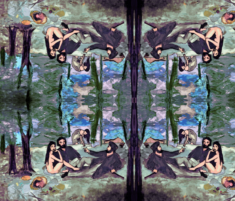 Manet imitation fabric by lucybaribeau on Spoonflower - custom fabric