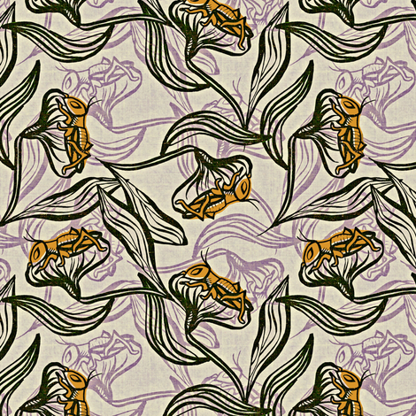 Cricket Song fabric by susan_polston on Spoonflower - custom fabric
