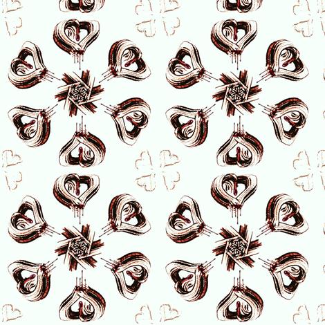 Bleeding Hearts fabric by ravynscache on Spoonflower - custom fabric