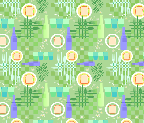 Picnic Elements 2 (Bright) fabric by vinpauld on Spoonflower - custom fabric