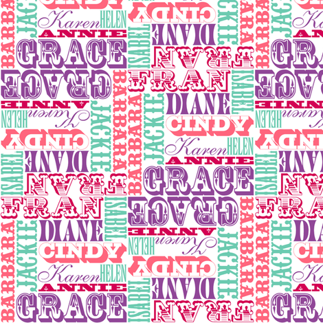 Crossfit Gals fabric by pennycandy on Spoonflower - custom fabric