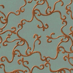 rusty filigree