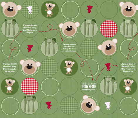 If you go down to the woods today... fabric by mulberry_tree on Spoonflower - custom fabric