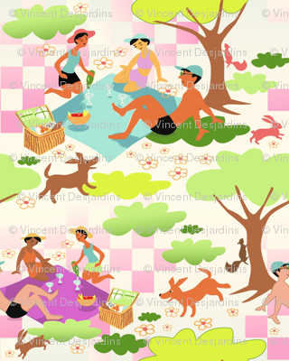 Forest Picnic 2 (warm background)