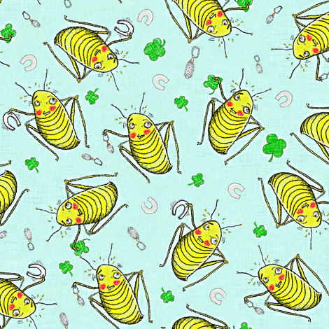 The Real Reason Crickets are Good Luck fabric by amy_g on Spoonflower - custom fabric