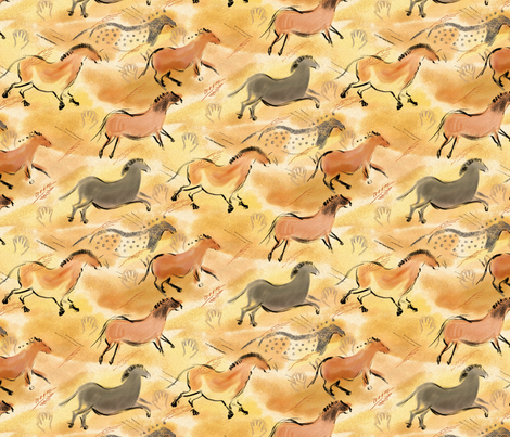 Cave Horses fabric by vinpauld on Spoonflower - custom fabric
