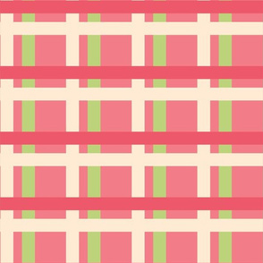 Raspberry Lime Plaid