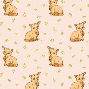 Cute Baby Fox | Pale Peach