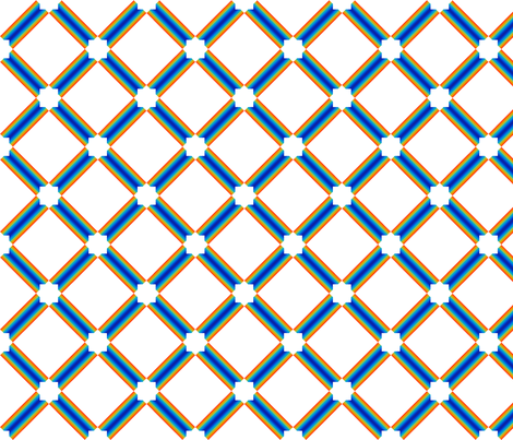 Moroccan Star Trellis White fabric by surface_maximus on Spoonflower - custom fabric