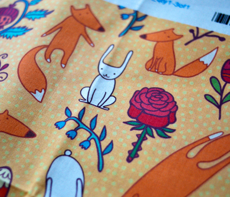foxes, hares and flowers