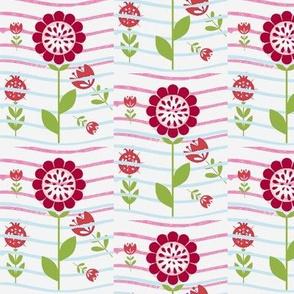 Flower and water summer gardens linens 02