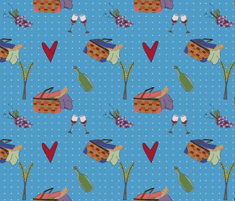 Picnic_love-03 fabric by cheli on Spoonflower - custom fabric