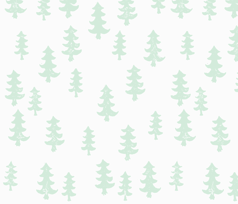 Mint trees fabric by laurenmholton on Spoonflower - custom fabric
