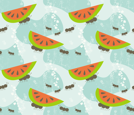 ants family picnic fabric by lilliblomma on Spoonflower - custom fabric