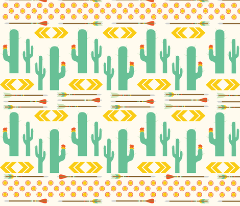 Wild Cactus fabric by oliveandruby on Spoonflower - custom fabric