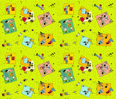 sunny picnic day fabric by momshoo on Spoonflower - custom fabric