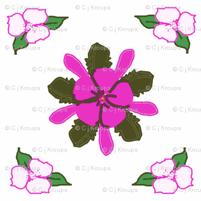 Pink Flower Diamonds
