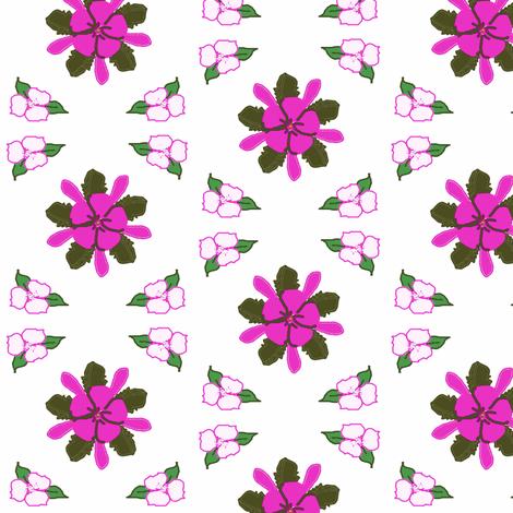 Pink Flower Diamonds fabric by ravynscache on Spoonflower - custom fabric